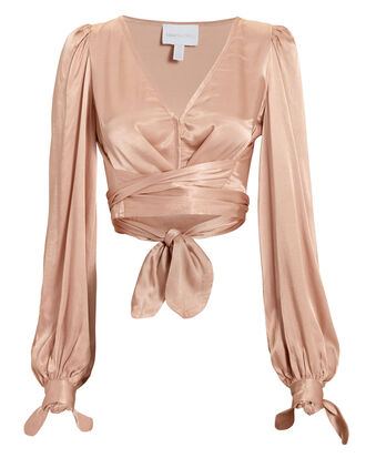 I Like That Wrap Top, BLUSH, hi-res