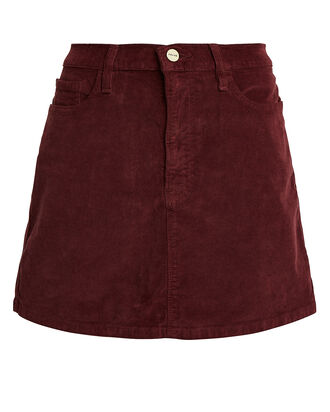 Le Mini Corduroy Skirt, BORDEAUX, hi-res