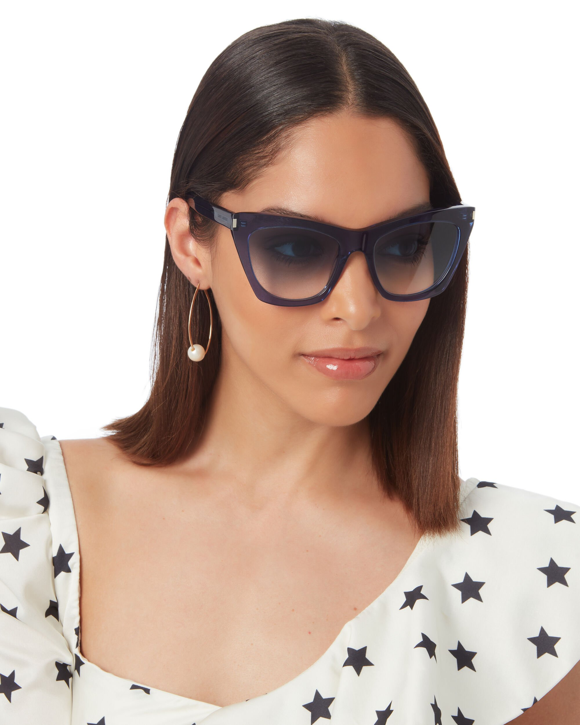 Kate Square Cat Eye Sunglasses, BLUE-MED, hi-res