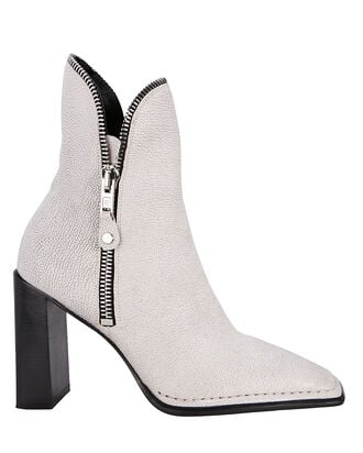 Lane Zipper Booties, WHITE, hi-res