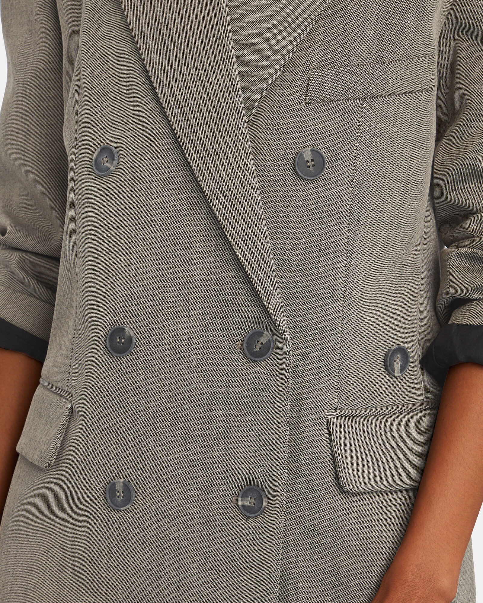 Luka Double-Breasted Suiting Blazer, BROWN, hi-res