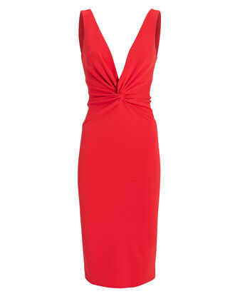 Zaza Midi Dress, RED, hi-res