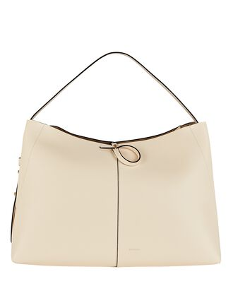 Ava Large Leather Tote Bag, IVORY, hi-res