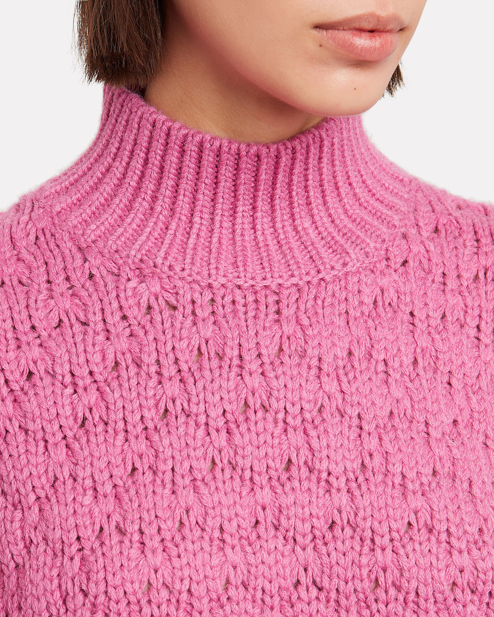 Alya Puff Sleeve Sweater, PINK, hi-res