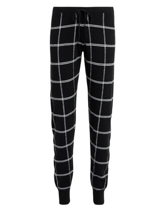 Salina Grid Pants, BLACK/WHITE, hi-res