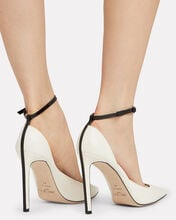 Helix Pointed Toe Pumps, WHITE, hi-res
