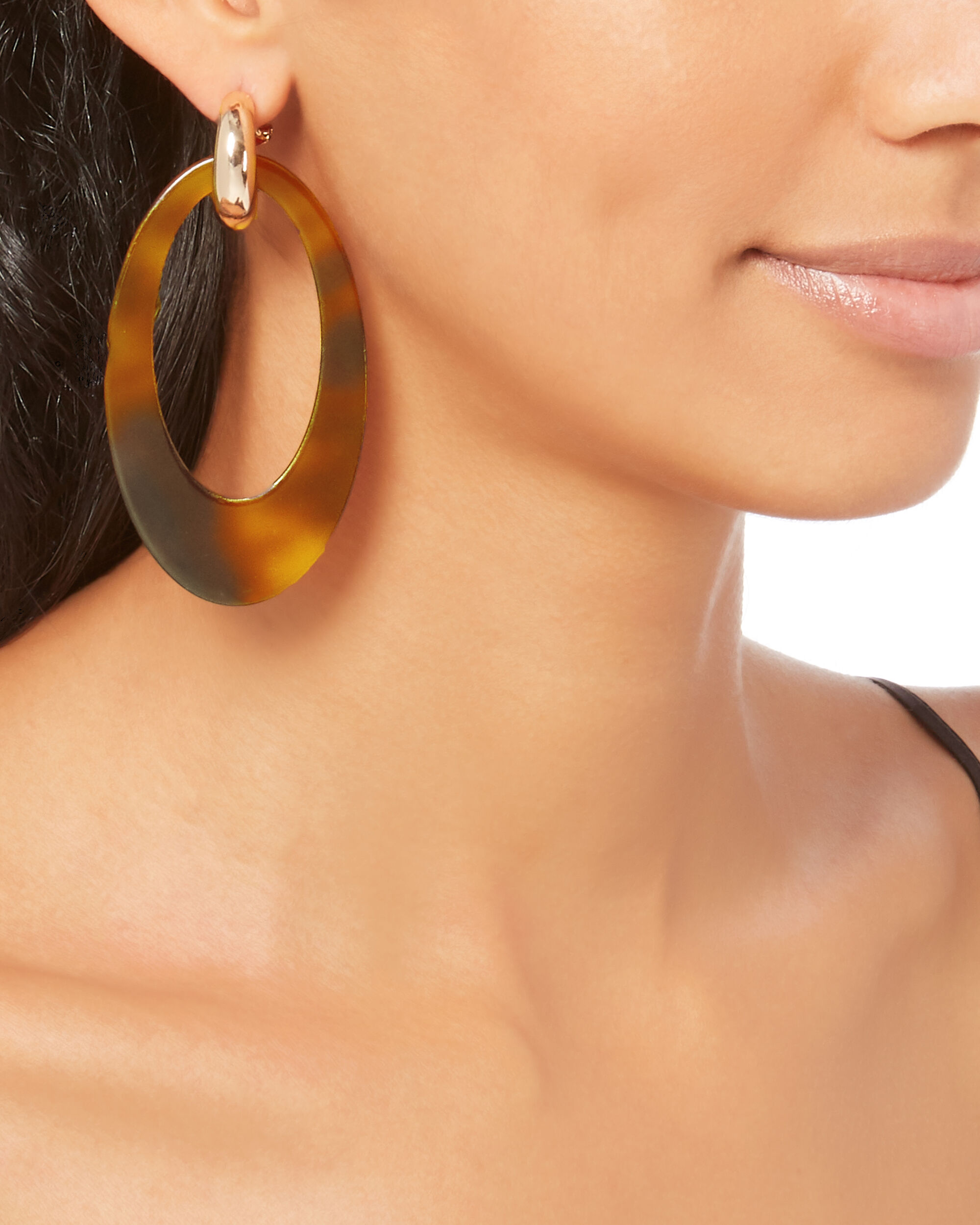 Opulent Tortoise Earrings, BROWN, hi-res