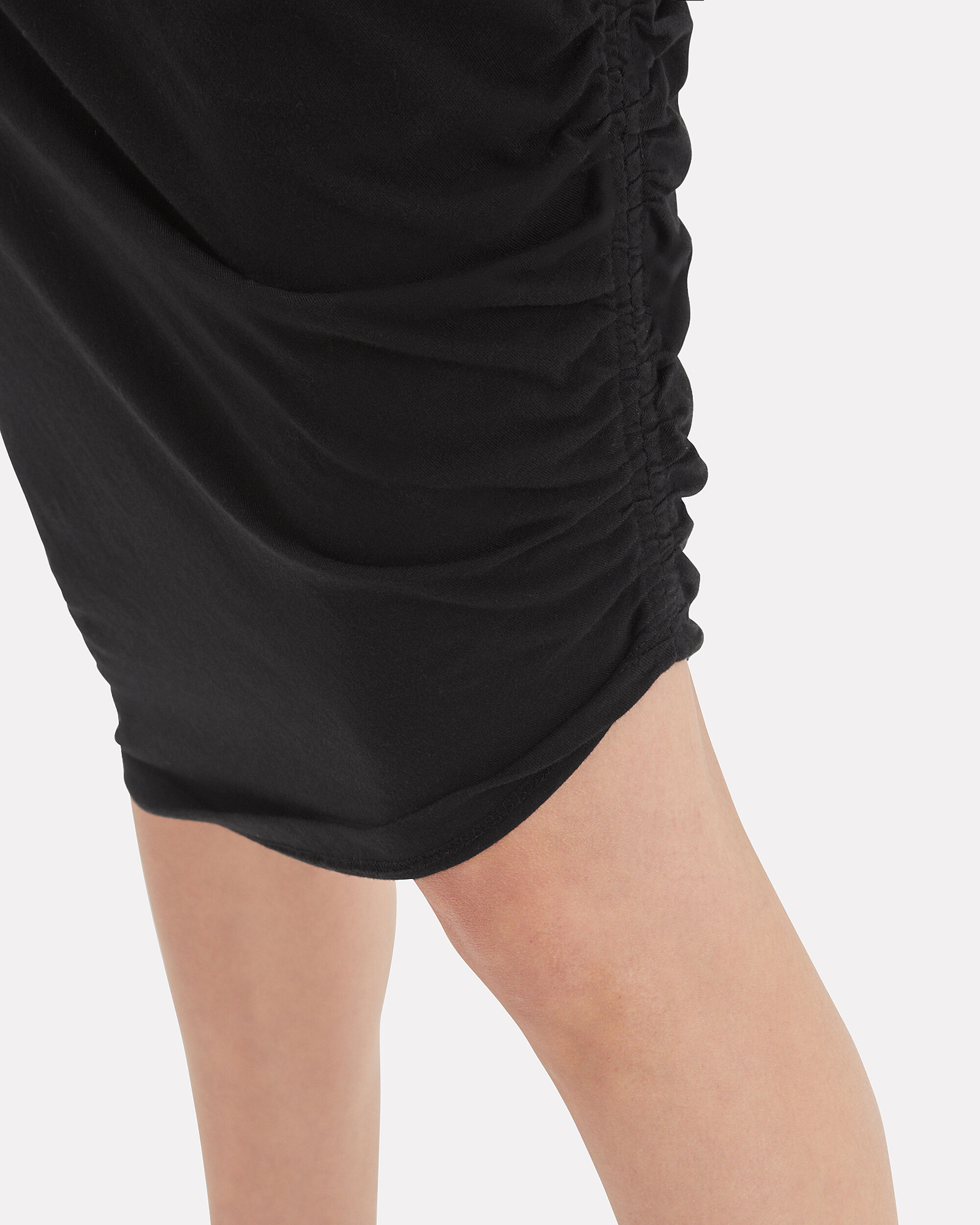 Decker Ruched Midi Dress, BLACK, hi-res