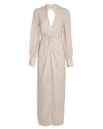 Claribell Ruched Midi Dress, IVORY, hi-res
