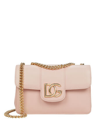 Logo Leather Crossbody Bag, BEIGE, hi-res
