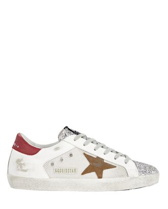 Superstar Leather Low-Top Sneakers, BEIGE, hi-res