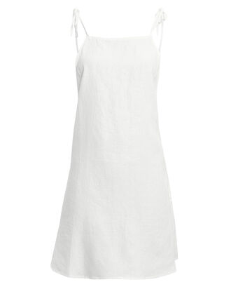 Daphne Mini Dress, WHITE, hi-res