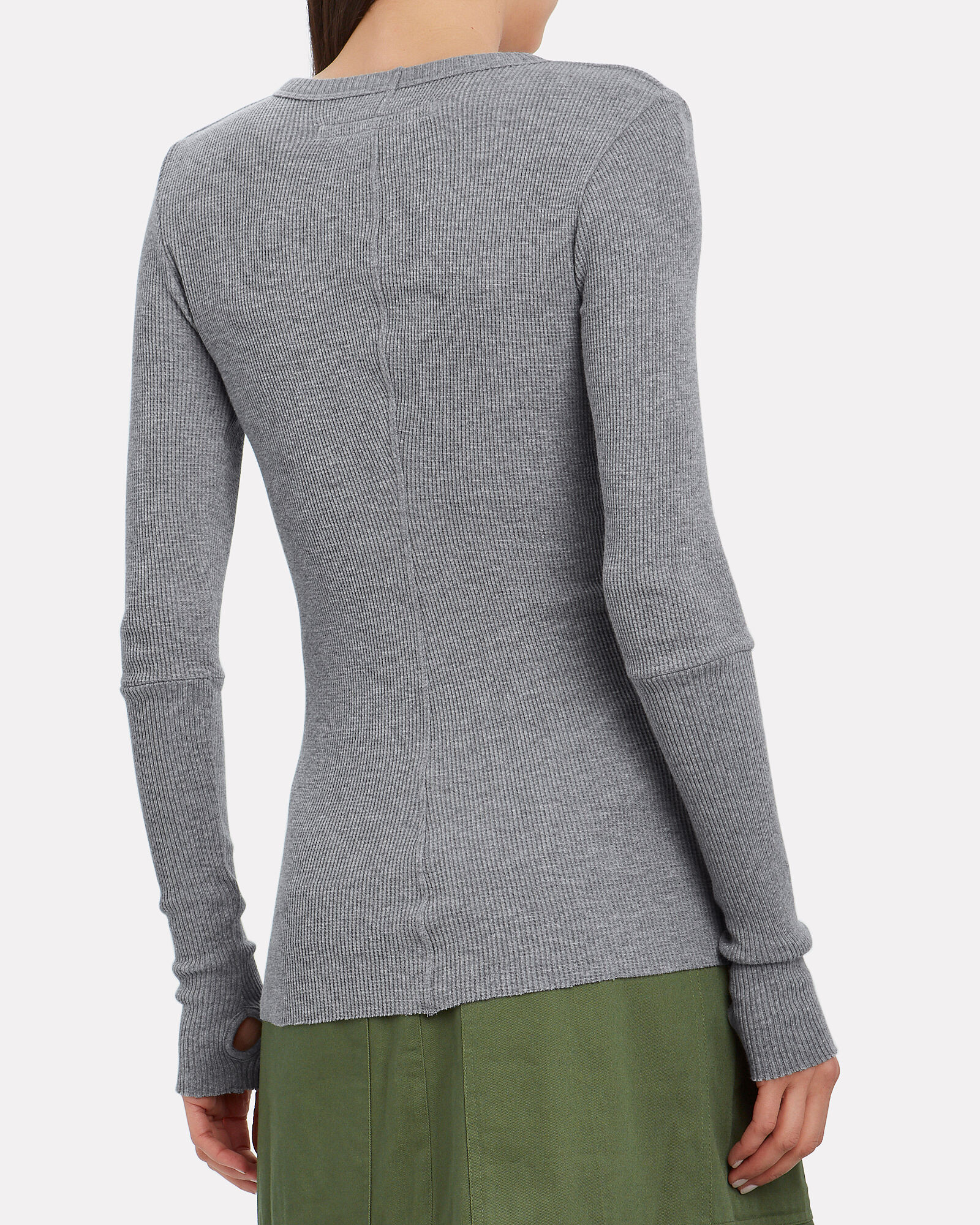 Cotton-Cashmere Thermal Top, HEATHER GREY, hi-res