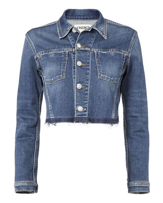 Zuma Raw Hem Crop Denim Jacket, DENIM, hi-res