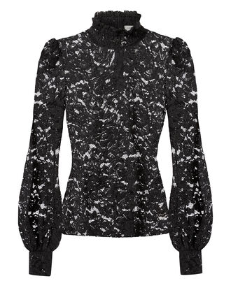 Samara Lace Turtleneck, BLACK, hi-res