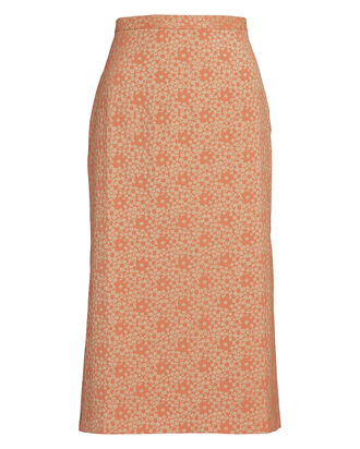 Jo Floral Jacquard Pencil Skirt, MULTI, hi-res