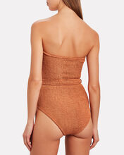 Honor Belted One-Piece Swimsuit, BROWN, hi-res