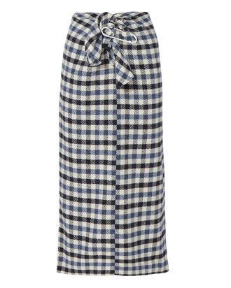 Tie Front Fairfax Gingham Skirt, , hi-res