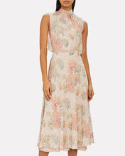 Lurex Floral Midi Dress, PINK/FLORAL, hi-res
