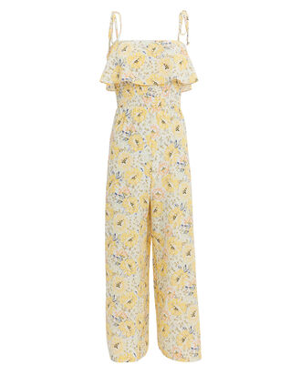Eliza Floral Jumpsuit, YELLOW, hi-res