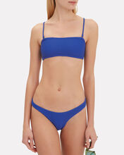 Ribbed Blue Bikini Bottom, BLUE-MED, hi-res