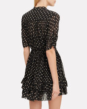 Polka Dot Ruffle Mini Dress, BLACK/BIEGE, hi-res