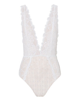 Net Mesh One Piece Swimsuit, WHITE, hi-res