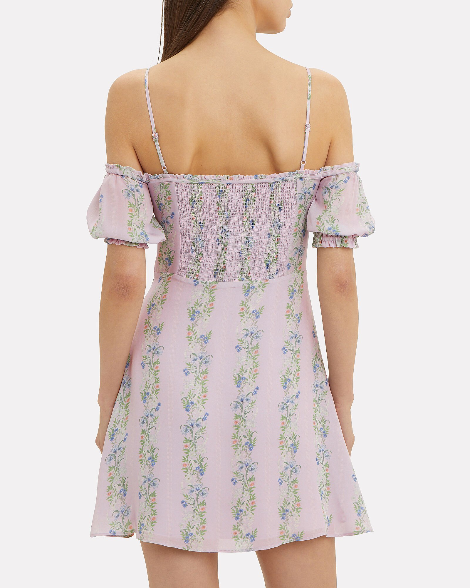 Lily Floral Mini Dress, PURPLE-LT, hi-res