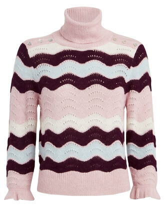 Dixie Alpaca & Wool-Blend Turtleneck, WHISPY PINK, hi-res