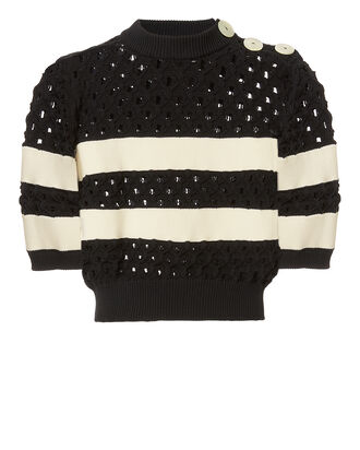 Sailor Striped Knit Top, BLK/WHT, hi-res