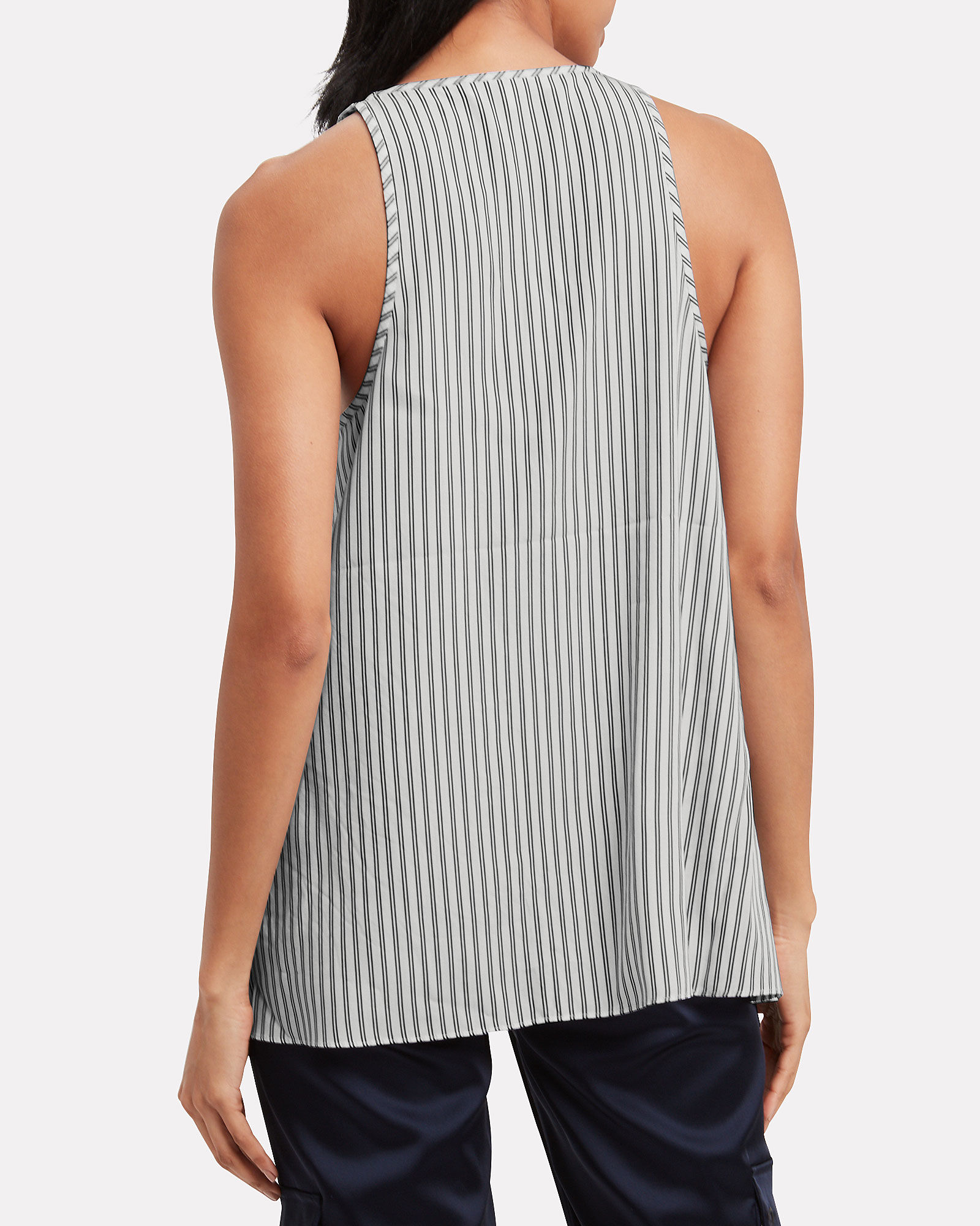 Soft Stripe Shirting Tank, WHITE/BLUE STRIPES, hi-res