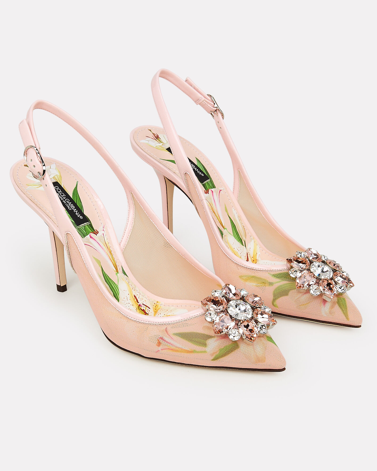Bellucci Mesh Slingback Pumps, BLUSH, hi-res