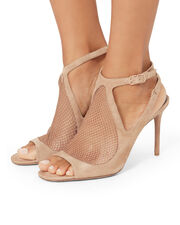 Piper Fishnet Sandals, BEIGE, hi-res