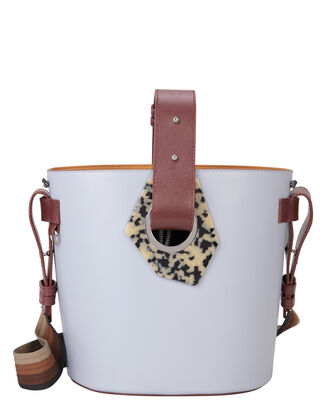 Cylinder Bucket Bag, BLUE, hi-res