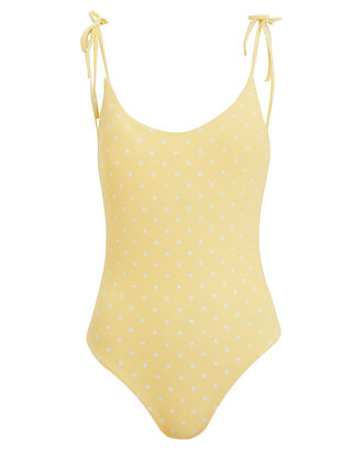 Ginny Polka Dot Tie Shoulder One Piece Swimsuit, MULTI, hi-res