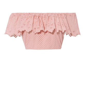 Maria Ruffled Crop Top, PINK, hi-res