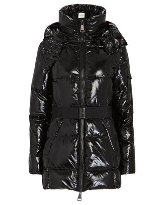 Soho Belted Puffer Jacket, BLACK, hi-res