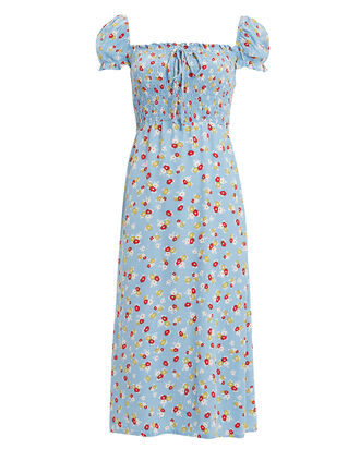 Jasmine Floral Print Midi Dress, MULTI, hi-res