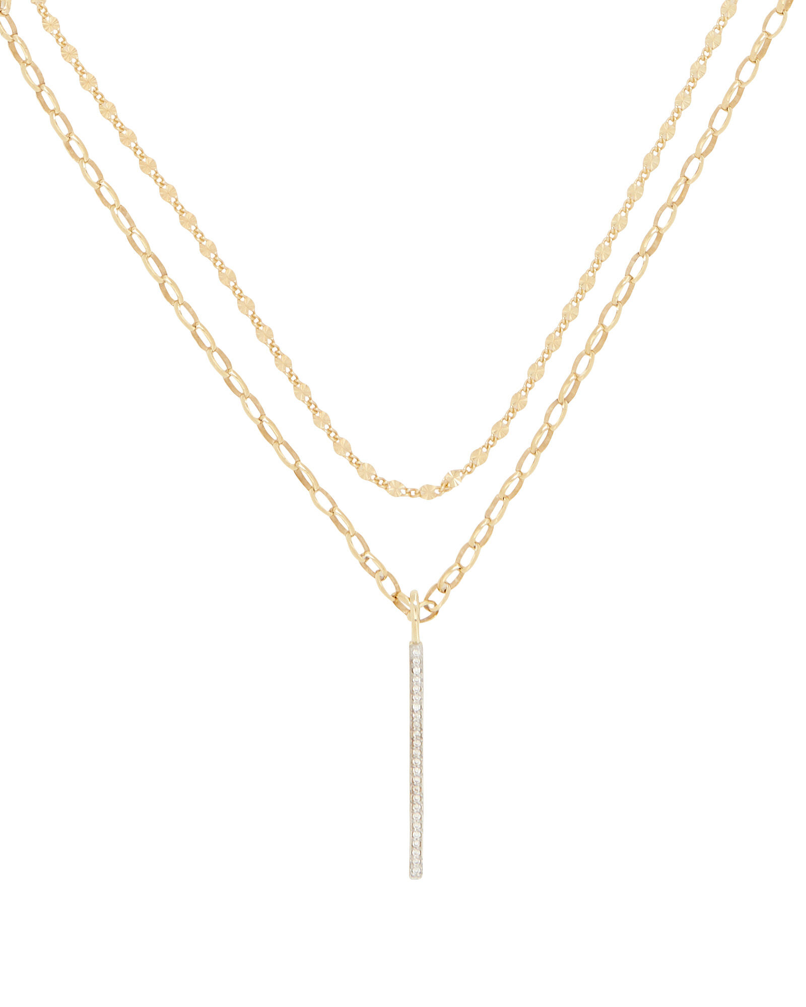 Layered Bar Necklace, GOLD, hi-res