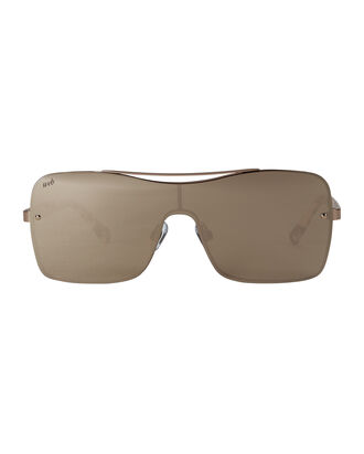 Shield Copper Lens Sunglasses, GOLD, hi-res