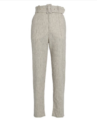 Rockpool Striped Linen Pants, BEIGE STRIPE, hi-res