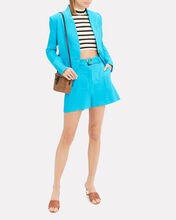 Miles Stretch Linen Dickey Blazer, TURQUOISE, hi-res