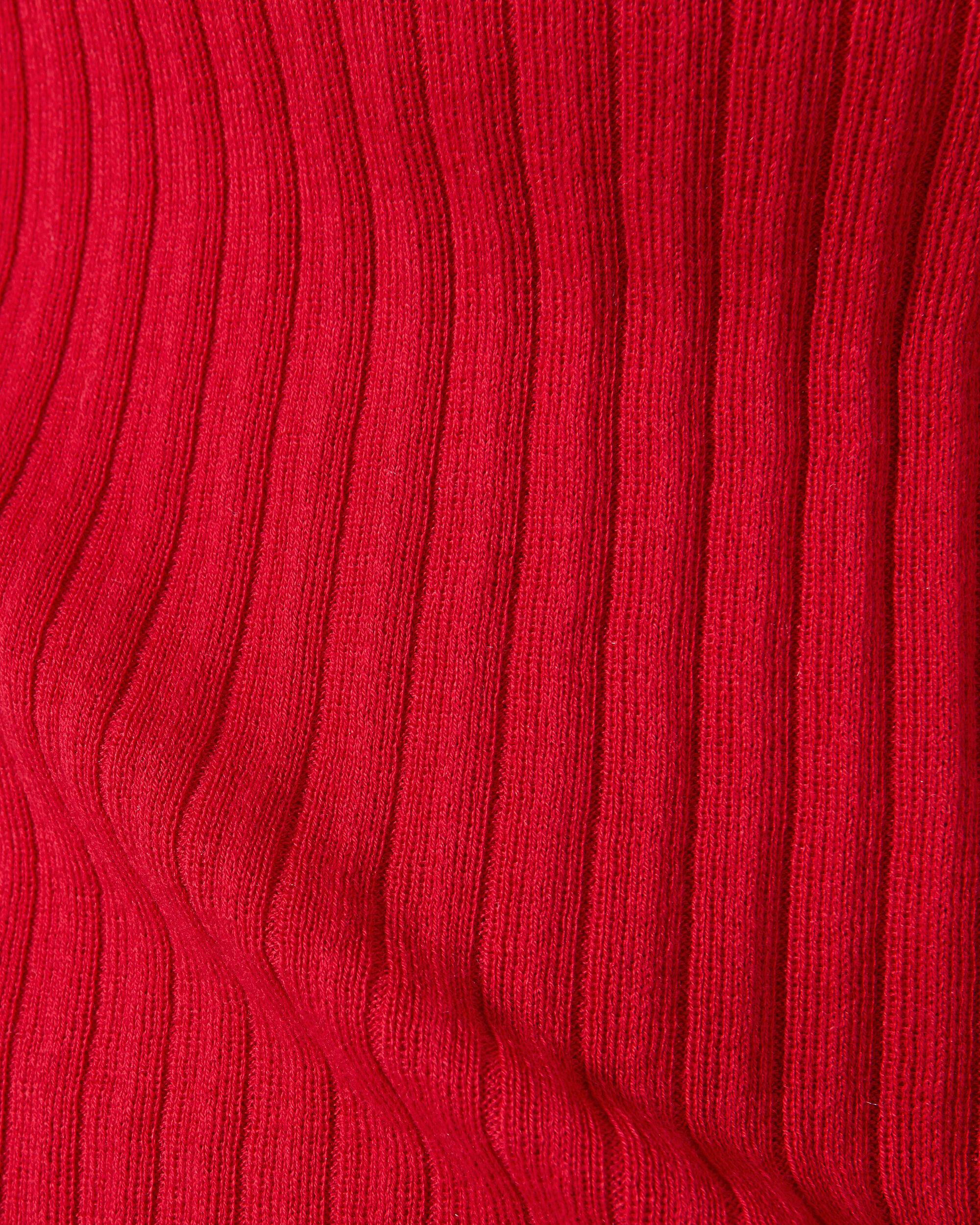 Bell Cuff Red Sweater, RED, hi-res