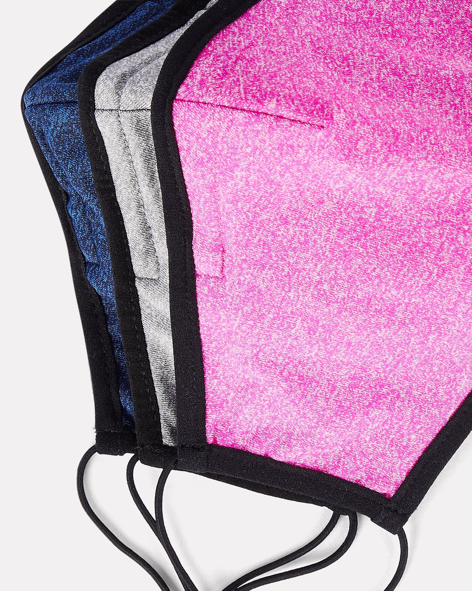 Heather Jersey Face Mask 3-Pack, GREY/BLUE/FUCHSIA, hi-res