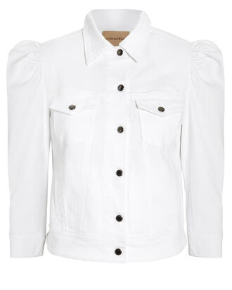 Ada Denim Jacket, WHITE, hi-res