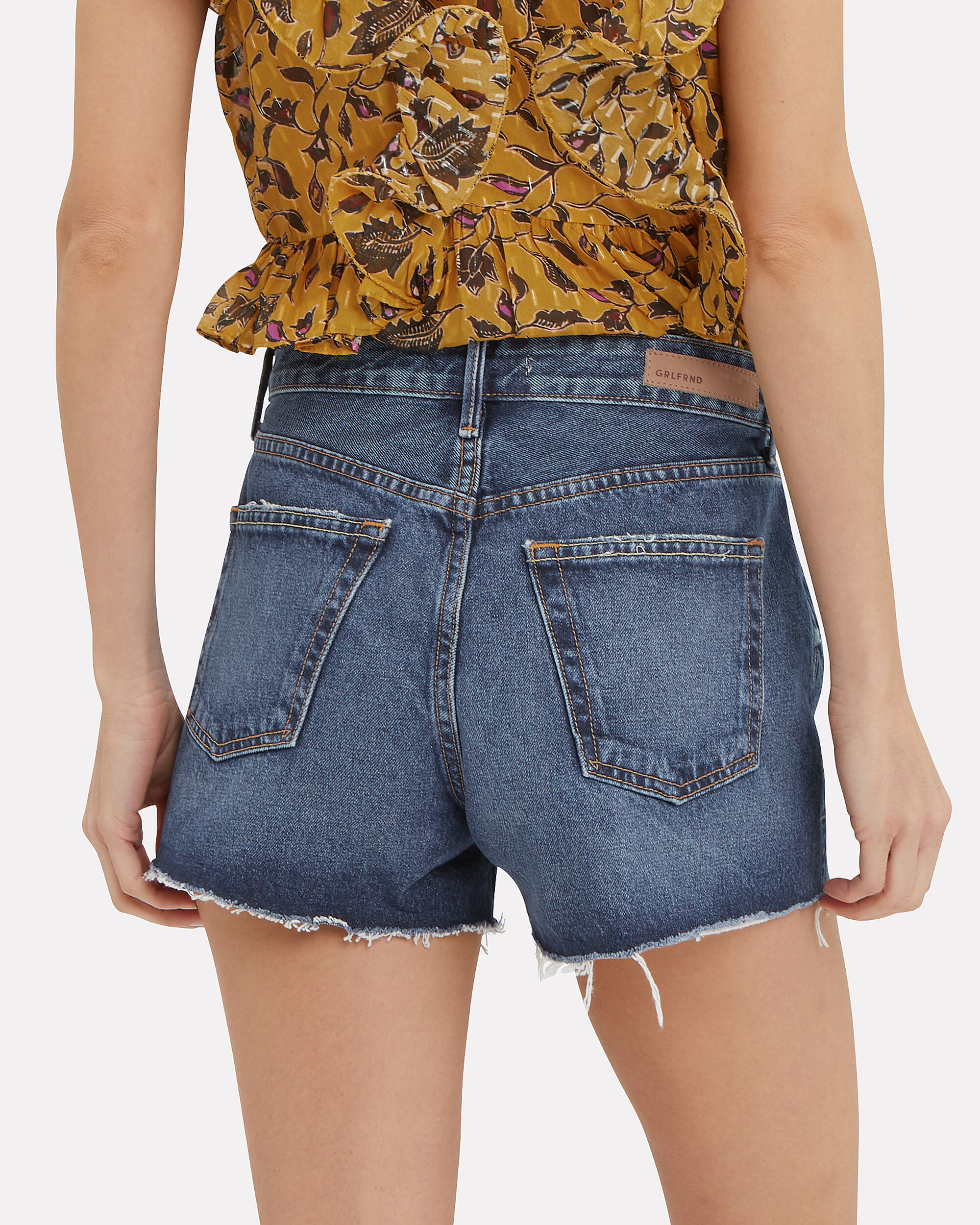 Helena Denim Shorts, DARK BLUE DENIM, hi-res