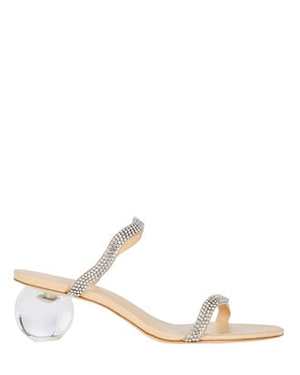 Aubrey Rhinestone Slide Sandals, , hi-res