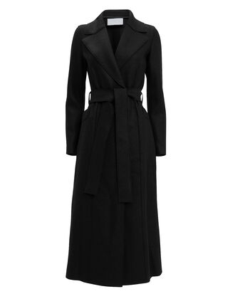 Black Long Duster Coat, BLACK, hi-res