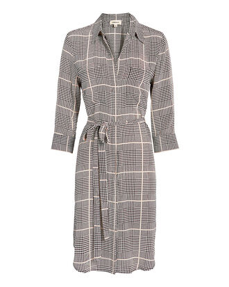 Stella Plaid Shirtdress, BLK/WHT, hi-res