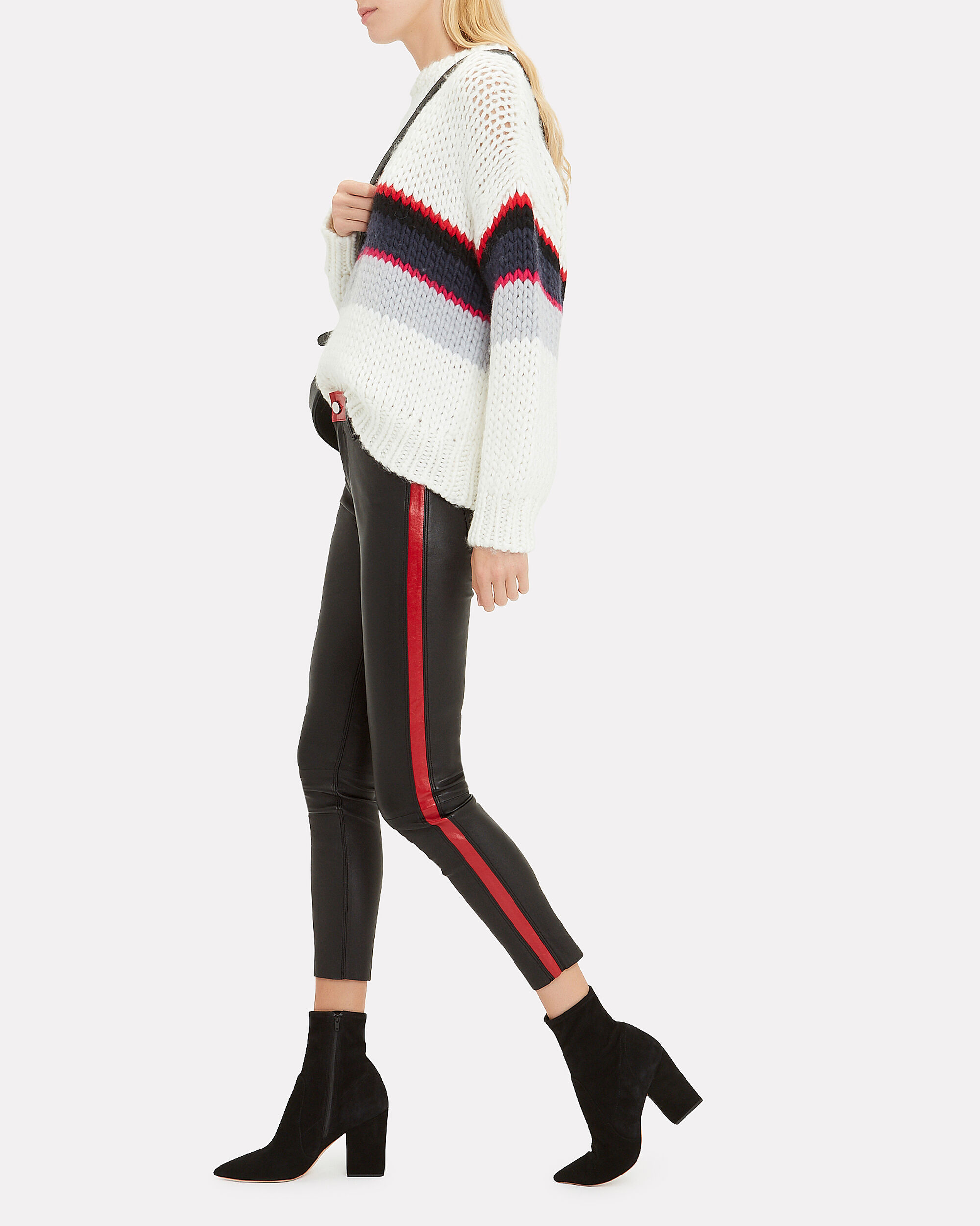 Ryland Racer Leather Pants, BLACK/RED, hi-res